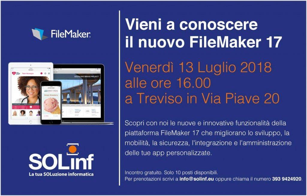 Evento FileMaker 17 a Treviso