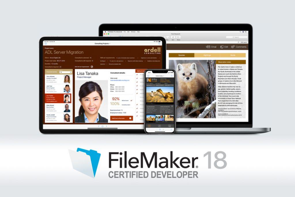 Certificazione FileMaker 18